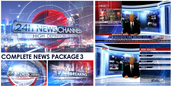 VideoHive – Broadcast News Package for After Effects Free Download