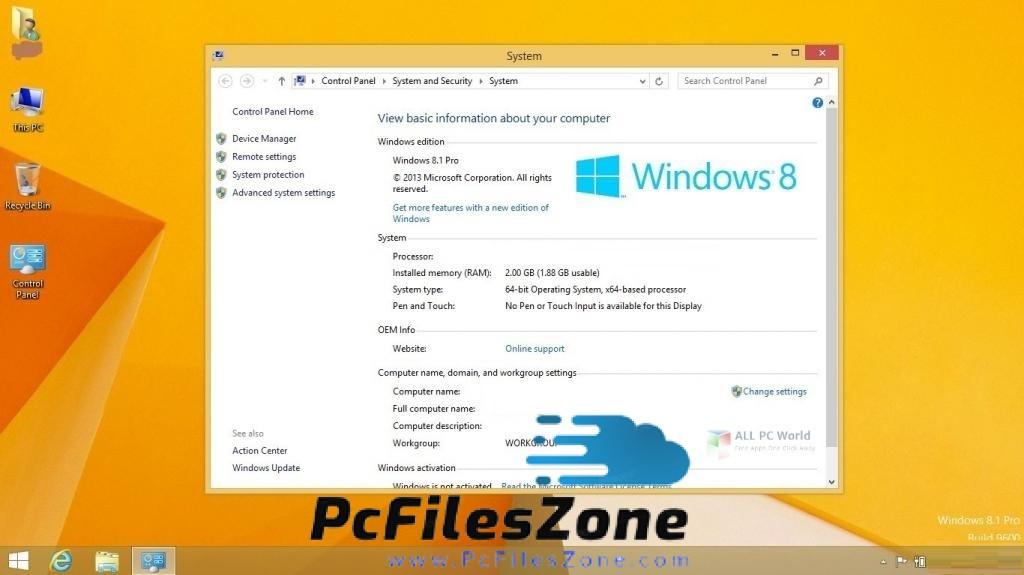 Windows 8.1 Pro 64 Bit Multilingual September 2019 Free Download