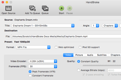 HandBrake for Mac