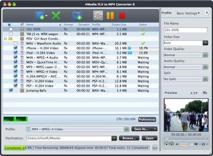 4Media FLV to MP4 Converter for Mac