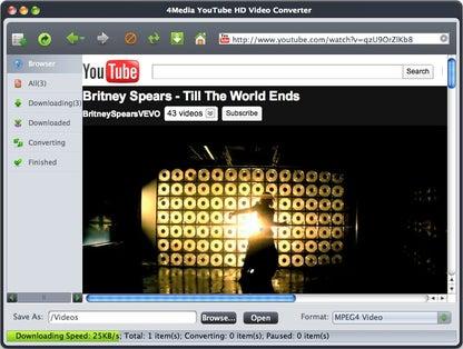 4Media YouTube HD Video Converter for Mac