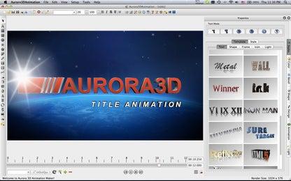 Aurora 3D Animation for Mac