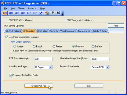 PDFill Free PDF and Image Writer