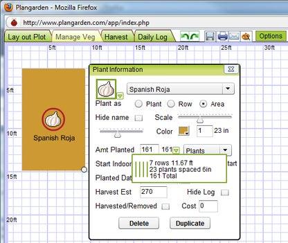 Plangarden Vegetable garden design software
