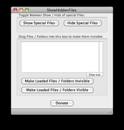 Show Hidden Files for Mac
