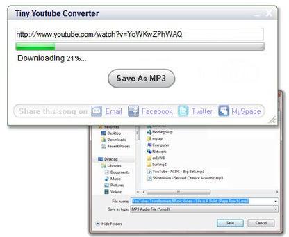 Tiny Youtube Converter